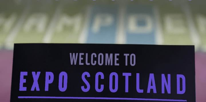 Scotland expo welcome sign