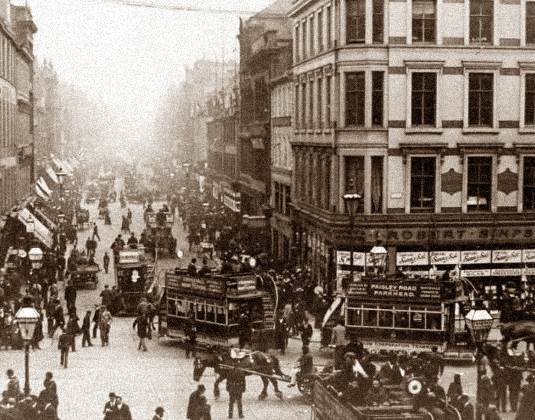 Glasgow street in 20th century